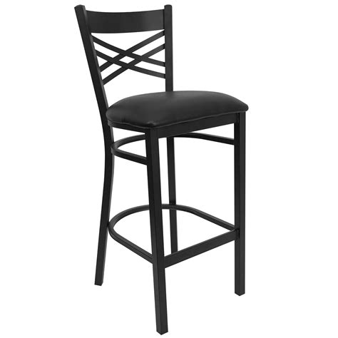 restaurant bar stool flash hercules series black x back metal restaurant