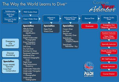 padi dive courses padi dive course flowchart 2rep divers bali