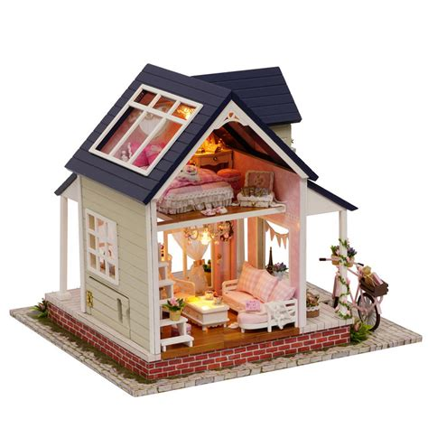 dolls house furniture diy diy wooden doll house unisex furniture miniature toys