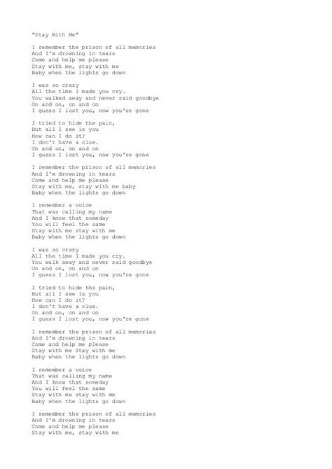 printable lyrics sam smith stay with me lyrics stay with me akcent