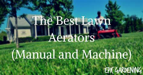 lawn aerators manual  machine