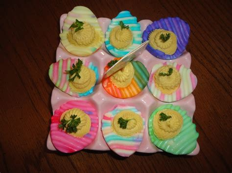 Decorated Deviled Eggs For Easter by Easter Devild Eggs Made Creations