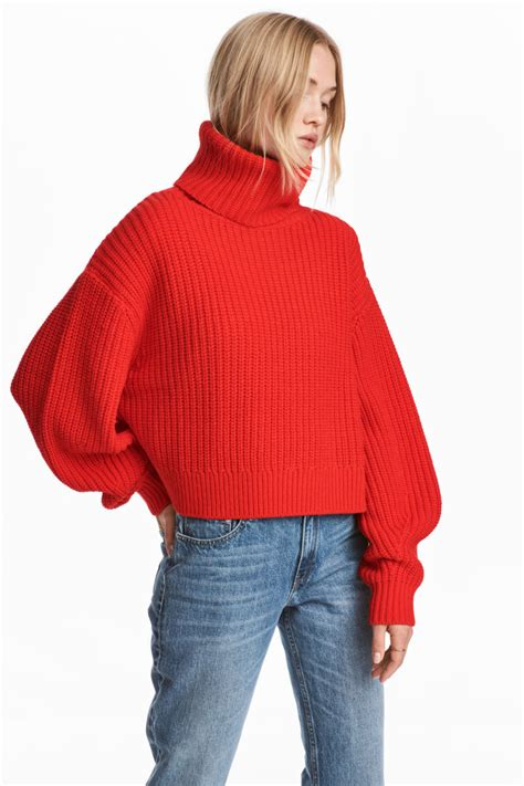 Sweater Di H M Knit Wool Blend Sweater Bright Sale H M Us