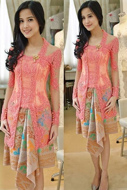 gaun kebaya modern  anggun  sederhana gebeetcom