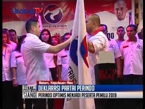 Pil Penggugur Tuntas 4 Bulan Ht Optimis Deklarasi Partai Perindo Di Seluruh Provinsi