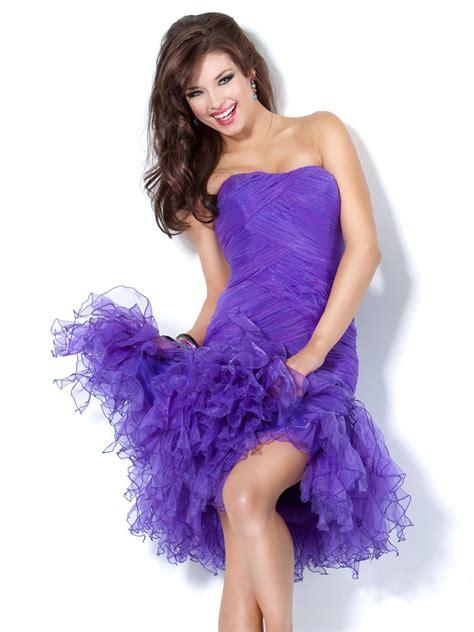purple cocktail purple cocktail dress strapless www imgkid com the