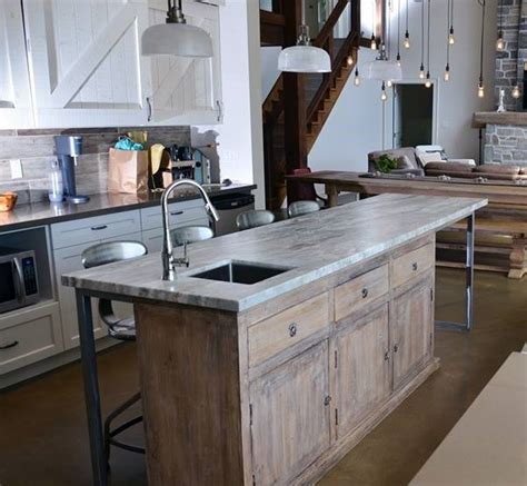 Reclaimed Wood Kitchen Islands Rustic Redifined One Of A Kind Kitchen Island Rustic