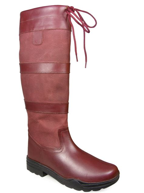 mens unisex new winter farm wellies leather