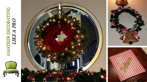 christmas items you tube wreaths my last minute dollar tree decor diy wreath scounces more
