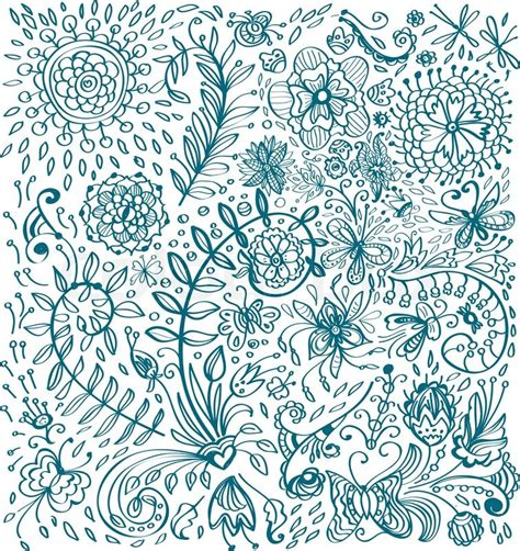 background design doodle doodle floral background stock photo colourbox