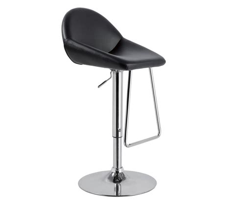 Modern Leather Bar Stools by Dreamfurniture T1138 Eco Leather Bar Black Stool