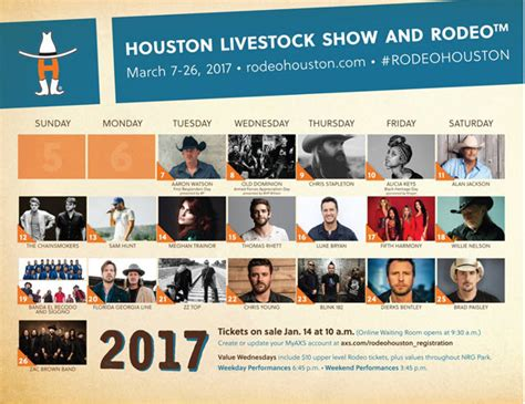 country fan 2017 lineup 2017 houston rodeo concerts lineup acountry