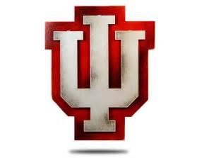 Indiana university logo vintage steel on vintage red from 99 00