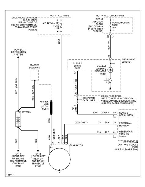 alternator wiring diagram chevy 2004 chevy cavalier alternator wiring diagram