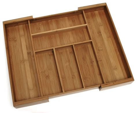 Expandable Bamboo Drawer Organizer by Bamboo Expandable Flatware Organizer