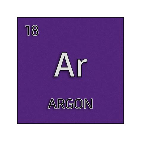 argon color color element cell for argon science notes and projects