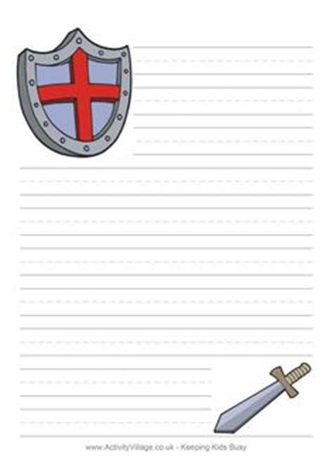 castle writing paper free printable themed writing papers middle