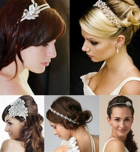 hairstyles using hair bands bridal hair bands for your wedding hairstyle wedding