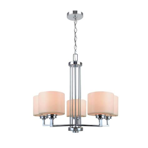 White Chandelier With Shades Glomar 3 Light Polished Chrome Chandelier With Satin White Glass Shade Hd 4085 The Home Depot