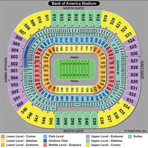 bank of america stadium seating bank of america stadium seating chart autos post