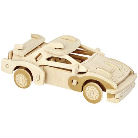 wooden car 3d wooden sports car puzzle hobbycraft