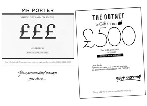 Net A Porter Gift Card - virtual gift cards from net a porter theoutnet mr porter red carpet fashion awards