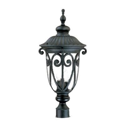 naples lighting and fan depot acclaim lighting naples 3 light matte black outdoor post