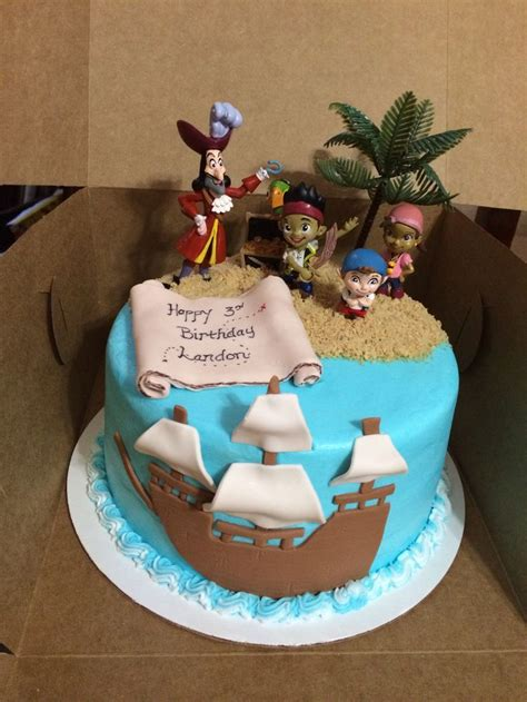 Landons  Ee  Birthday Ee   Cake Jake And The Neverland Pi Es