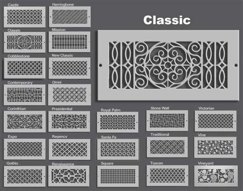 hvac grilles and diffusers decorative air supply registers general heating air