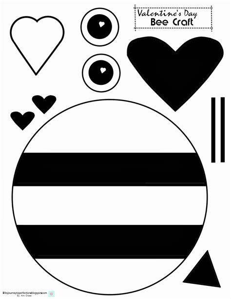valentine s day bee craft printable valentines