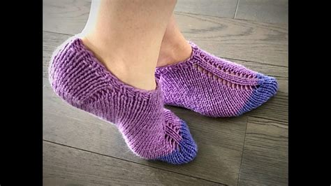 socks pattern youtube easy knit slippers pattern tutorial youtube