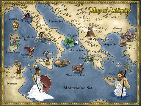 hutchinson page a map of odysseus journey