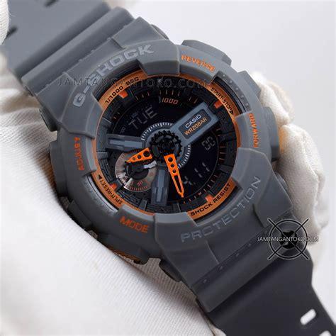 Jam Tangan Gshock Ga110 Grey gambar jam tangan g shock ga110ts 1a4 abu abu orange ori