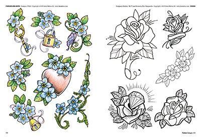 fiori e piume tattoo