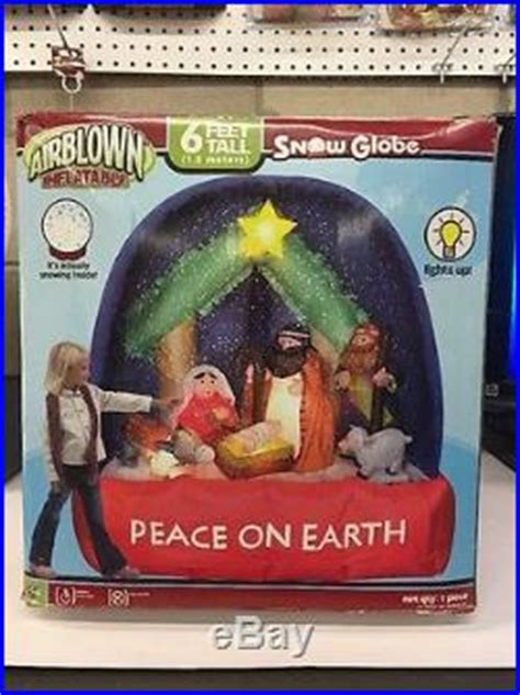 gemmy airblown inflatable nativity scene snow globe  ft