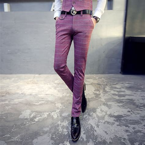dress pants shop for mens dress pants and apparel aliexpress com buy luxury brand casual plaid men pants