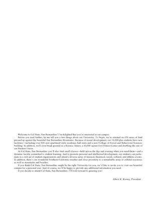 Csusb Academic Calendar Bulletin Of Courses Course Catalog Special Collections