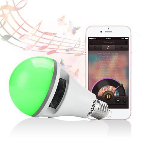 App Controlled Lighting by Led Light Bulb Speaker Via App Controlled