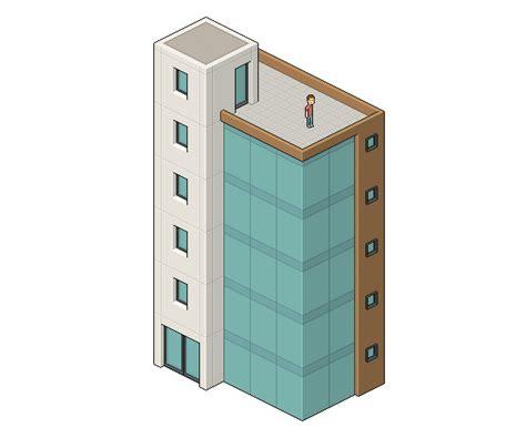 Create an Isometric Pixel Art Office Building in Adobe