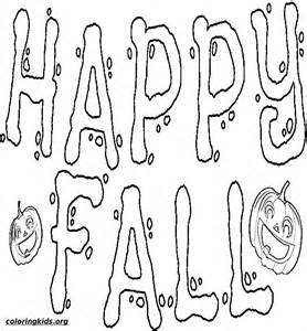 pics photos kids happy autumn coloring pages fall