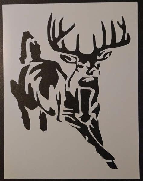 custom stencil templates buck white tailed deer 8 5 quot x 11 quot custom stencil