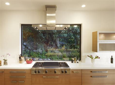 Kitchen Oven Window Mill Valley Contemporary Kitchen With Window At Range
