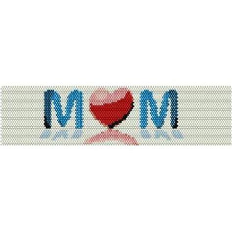 heart pattern loom heart mom loom beading pattern for cuff bracelet sale