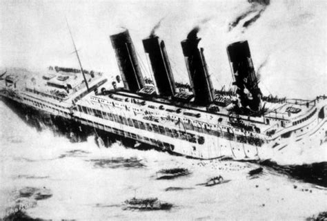 passenger ship sunk by german u boat british officials feared secret of sunk lusitania could
