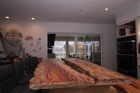 mystery island kitchen live edge mystery wood kitchen island