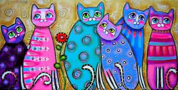 colorful cats 1000 images about para pintar on roosters