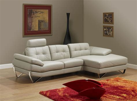 Dallas Light Grey Right Sectional Sofa Modern Light Gray Sectional Sofa
