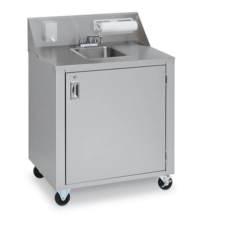 Crown verity cvphs 1c portable hand sink stainless steel cold water only single bowl crown