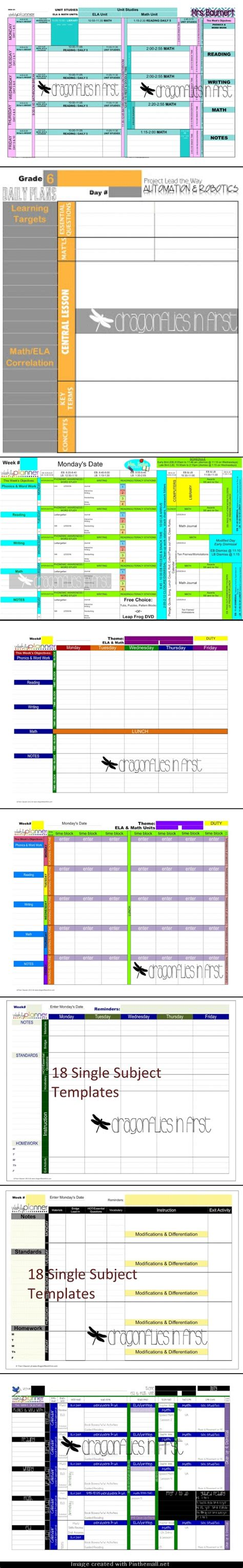 digital lesson plan template the ultimate digital weekly planner faqs plan