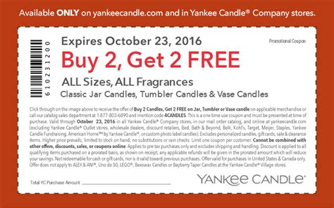 new yankee candle printable coupons yankee candle buy 2 get 2 free coupon freebieshark com